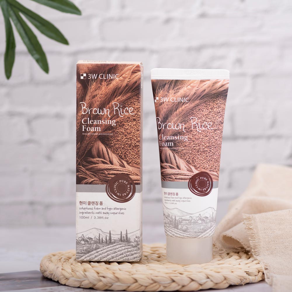 Sữa rửa mặt 3W Clinic Brown Rice Cleansing Foam