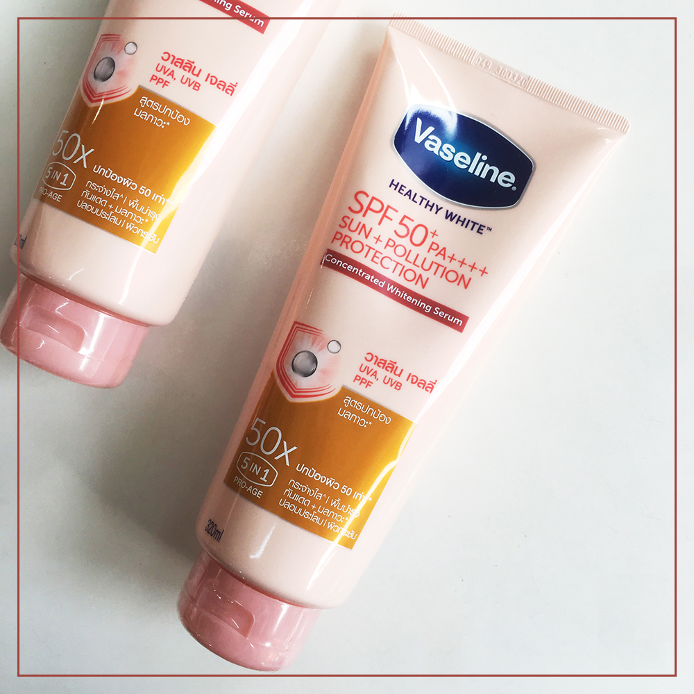 Sữa Dưỡng Thể Vaseline Healthy White Sun Pollution Protection 50X