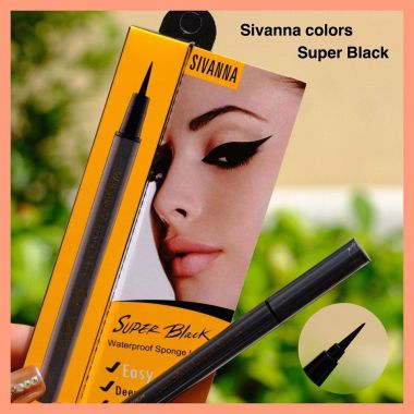 Kẻ mắt nước Sivanna Colors Super Black Waterproof Sponge Liner EP030