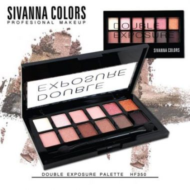 Phấn mắt Sivanna Colors Double Exposure Palette HF350