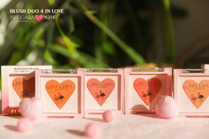 Phấn má hồng Nee Cara Flamingo Blush Duo 4 In Love N214